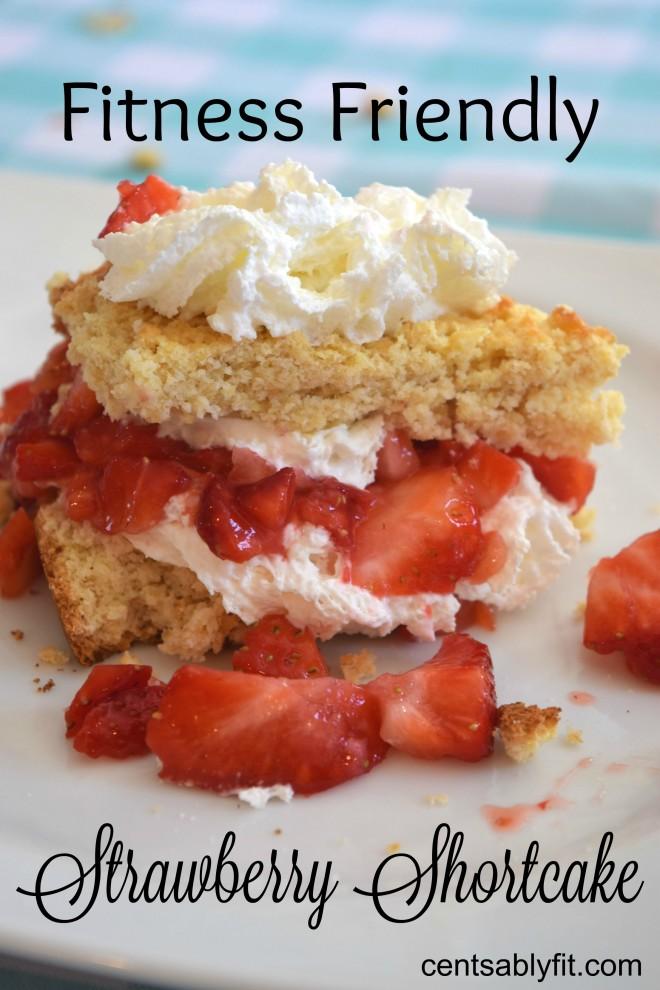 Fitness Friendly Strawberry Shortcake
